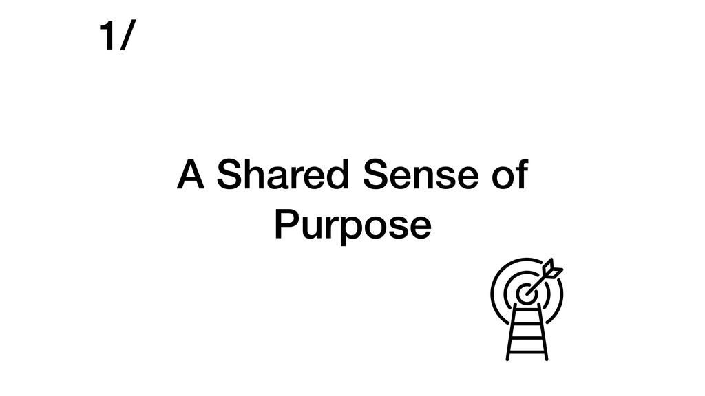 A Shared Sense of Purpose 1/