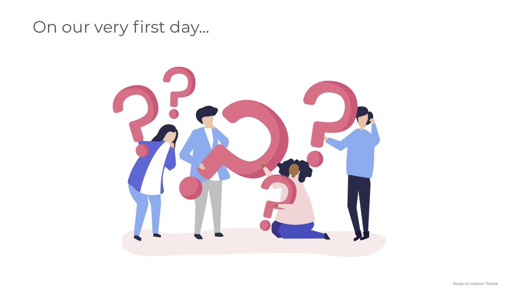 On our very first day... Design by rawpixel / Fr...