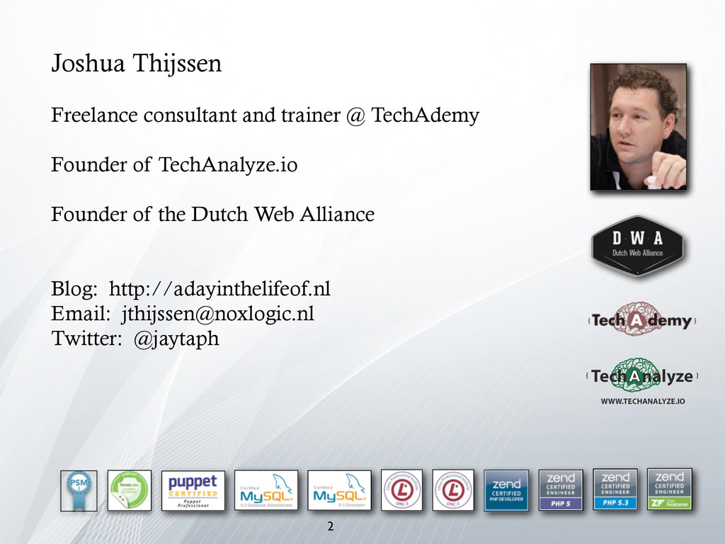 2 Joshua Thijssen Freelance consultant and trai...