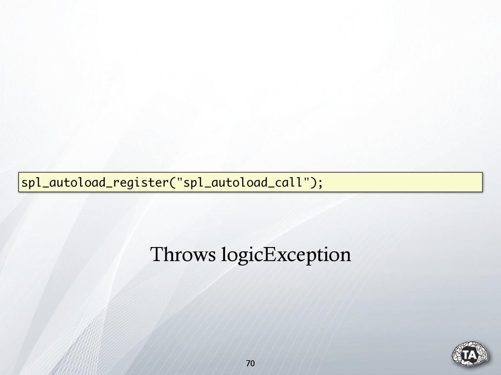 """70 spl_autoload_register(""""spl_autoload_call""""); ..."""