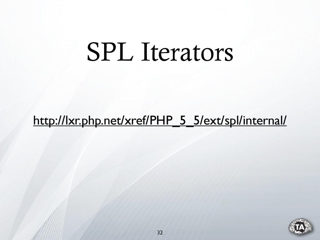 SPL Iterators 32 http://lxr.php.net/xref/PHP_5_...