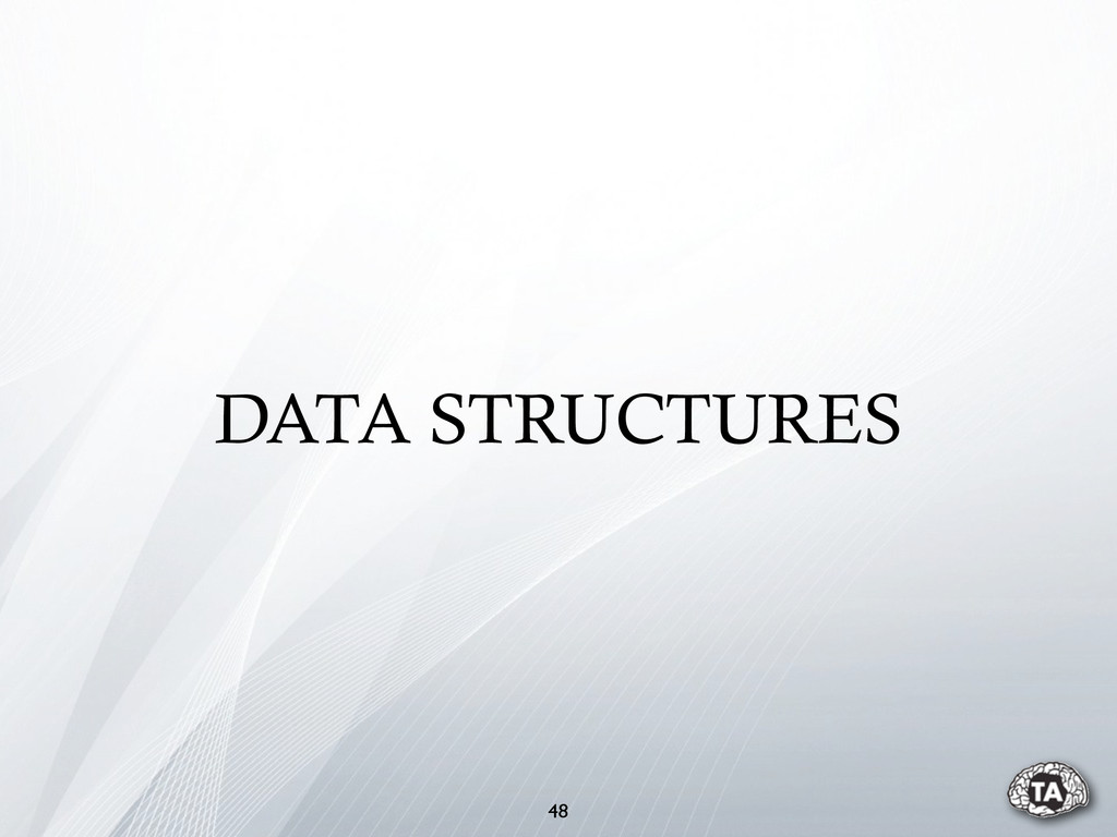 48 DATA STRUCTURES