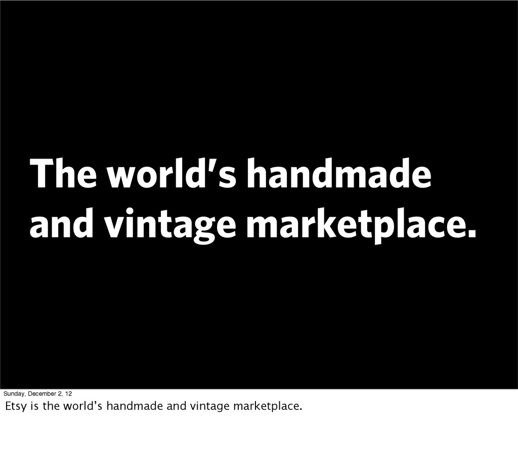The world's handmade and vintage marketplace. S...