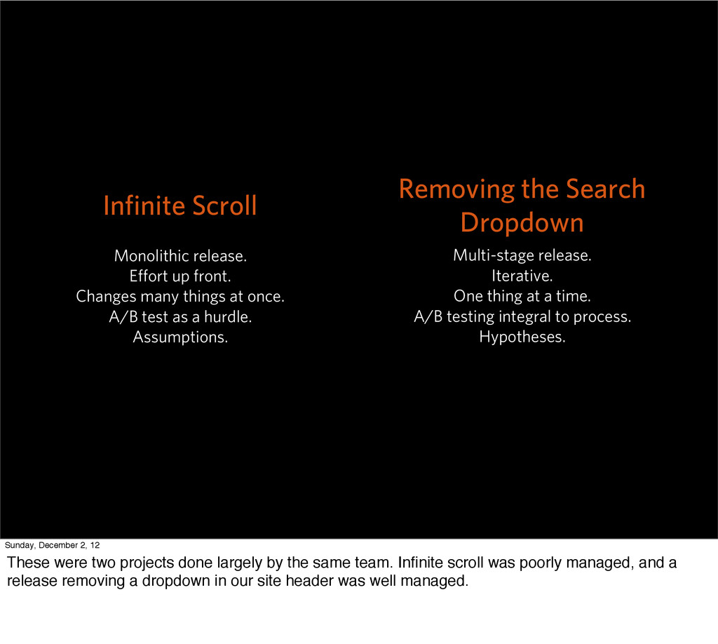 Infinite Scroll Monolithic release. Effort up fro...