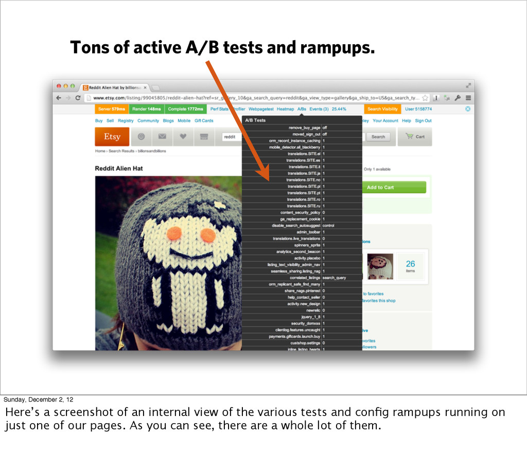Tons of active A/B tests and rampups. Sunday, D...