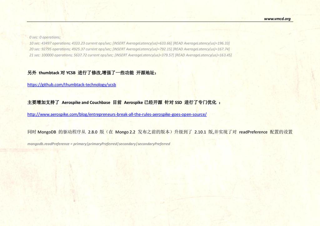 www.vmcd.org 0 sec: 0 operations; 10 sec: 43497...