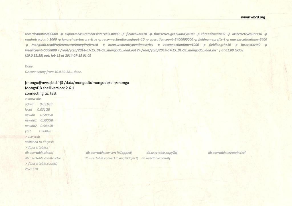 www.vmcd.org recordcount=5000000 -p exportmeasu...