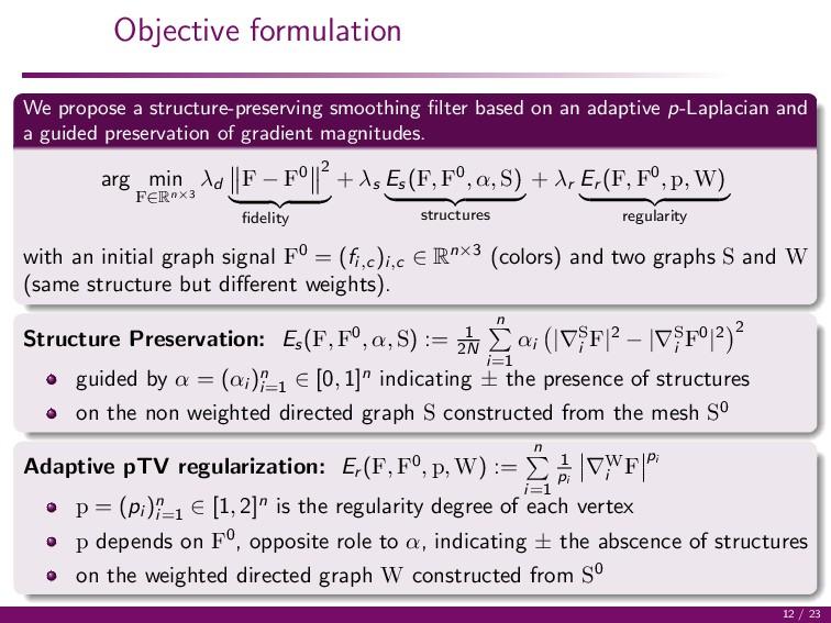 Objective formulation We propose a structure-pr...
