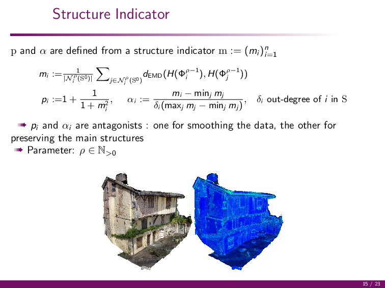 Structure Indicator p and α are defined from a s...
