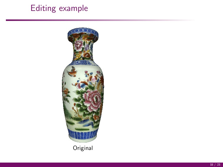 Editing example Original 18 / 23