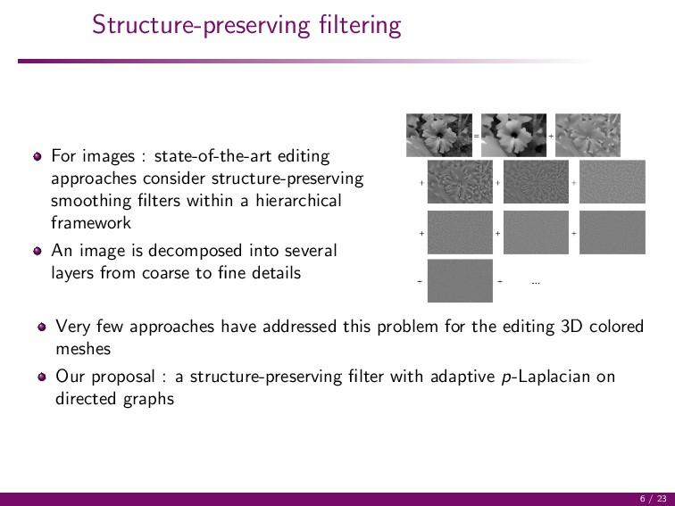 Structure-preserving filtering For images : stat...