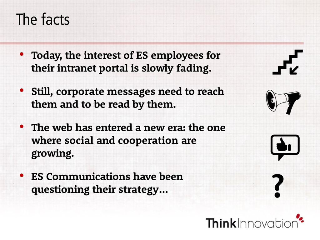 The facts • Today, the interest of ES employees...