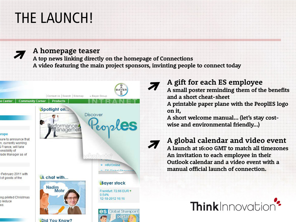 THE LAUNCH! A homepage teaser A top news linkin...