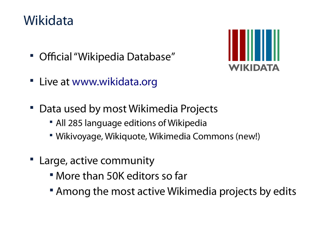 """Wikidata  Official """"Wikipedia Database""""  Live..."""