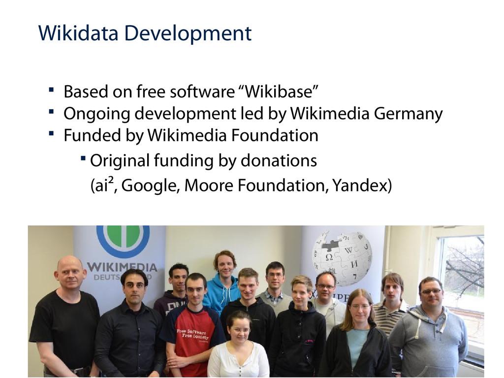 "Wikidata Development  Based on free software ""..."