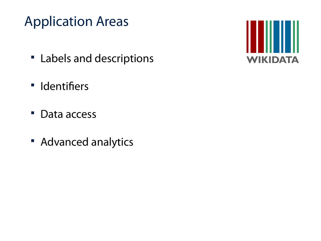 Application Areas  Labels and descriptions  I...