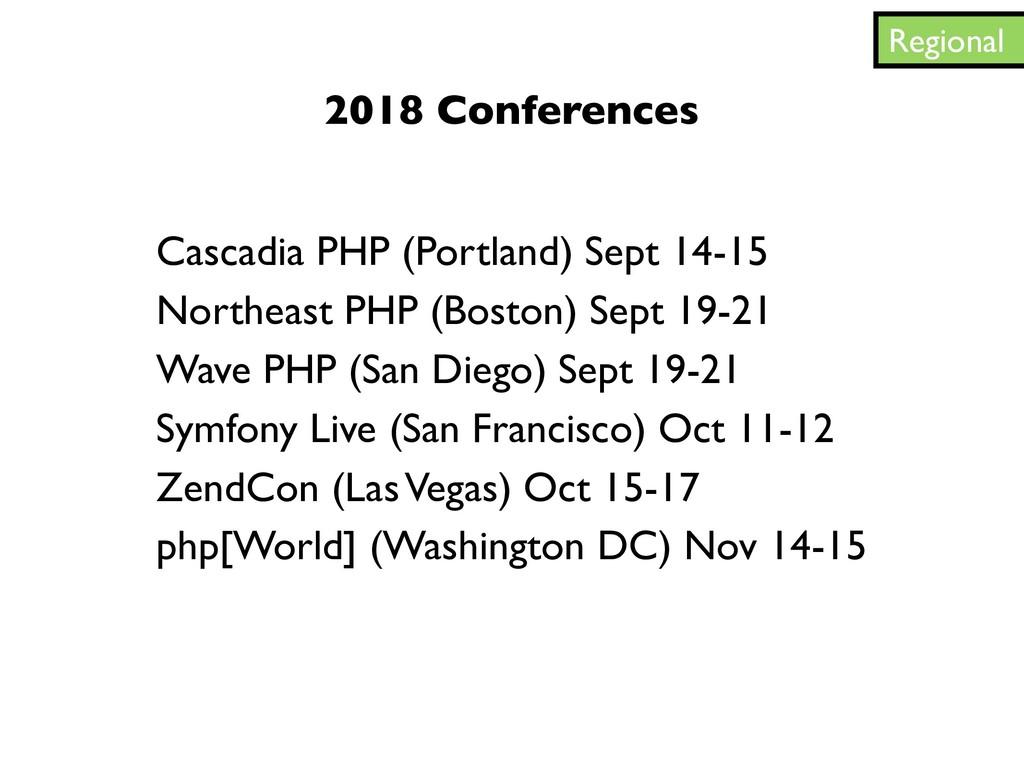 Regional Cascadia PHP (Portland) Sept 14-15 Nor...