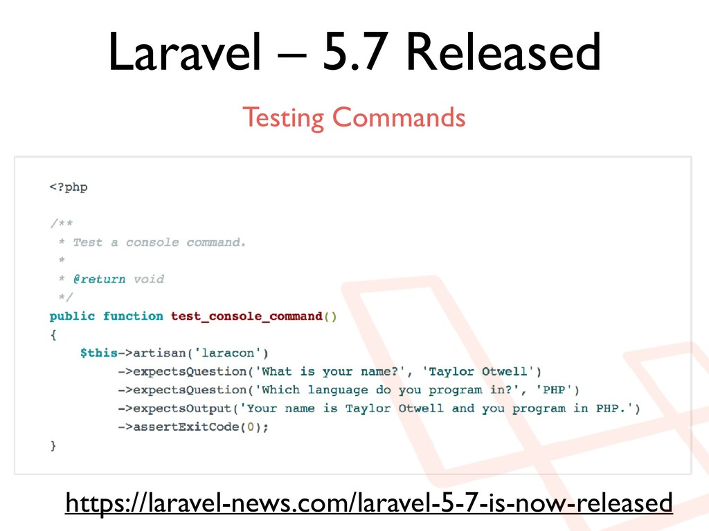 Laravel – 5.7 Released https://laravel-news.com...