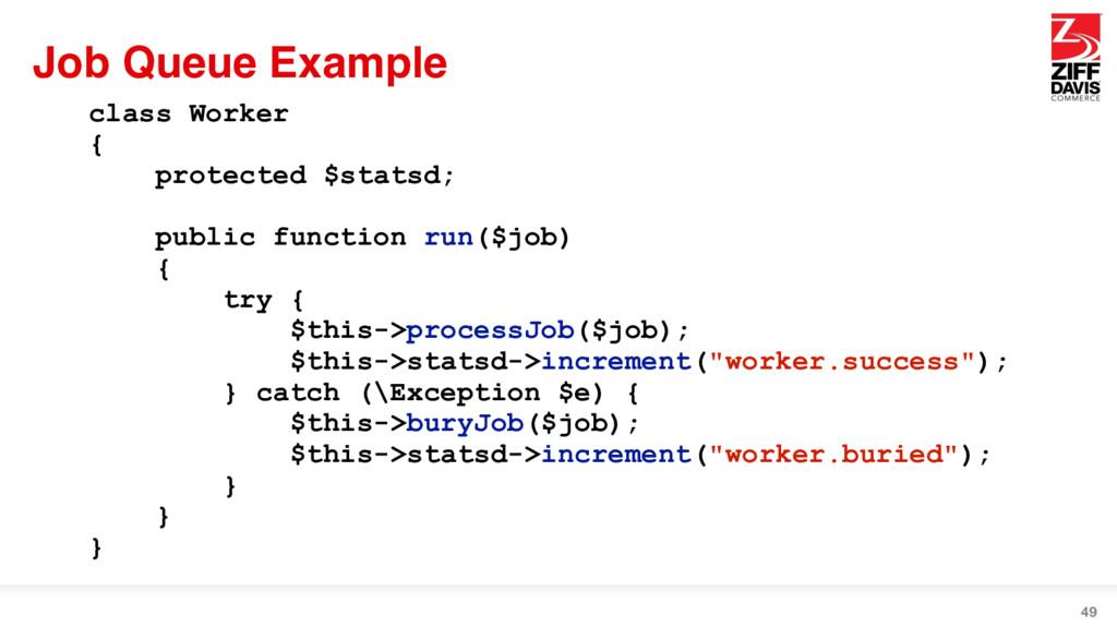 Job Queue Example 49 class Worker { protected $...