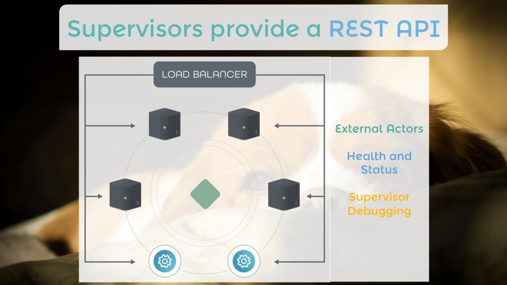 Supervisors provide a REST API External Actors...