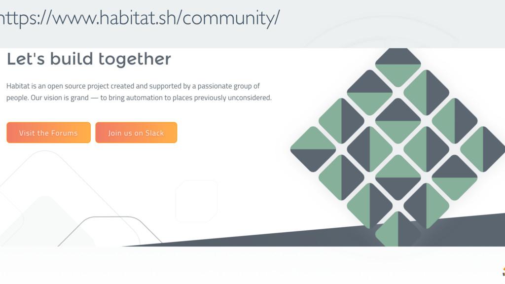 https://www.habitat.sh/community/