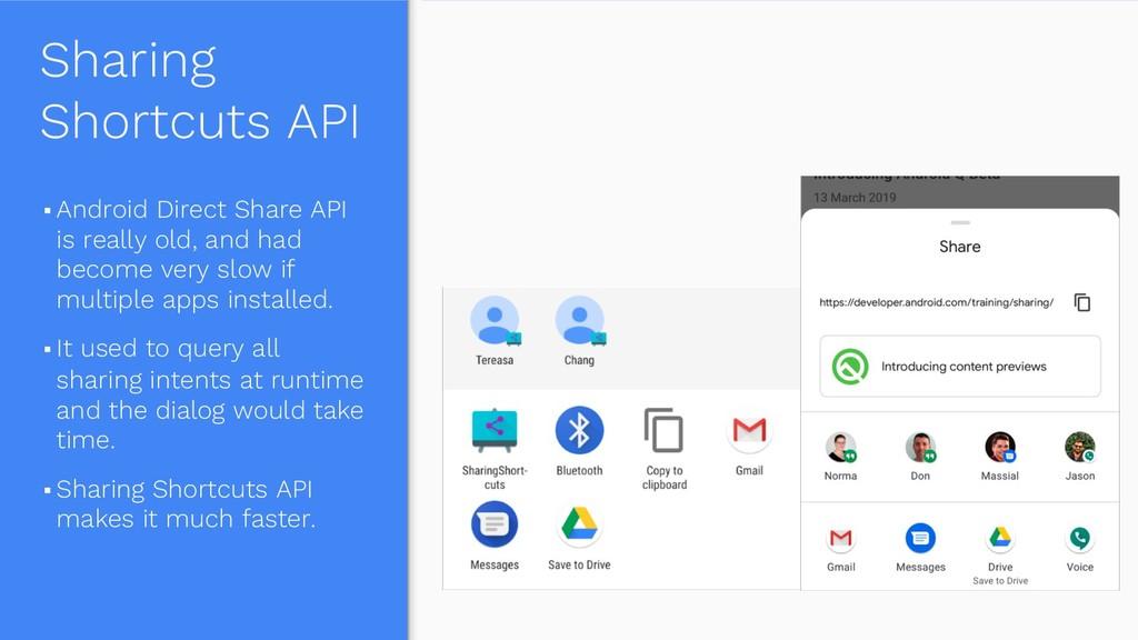 Sharing Shortcuts API § Android Direct Share AP...