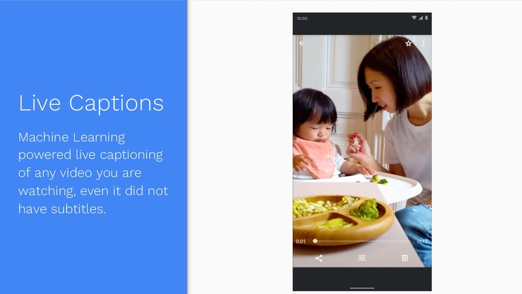 Live Captions Machine Learning powered live cap...