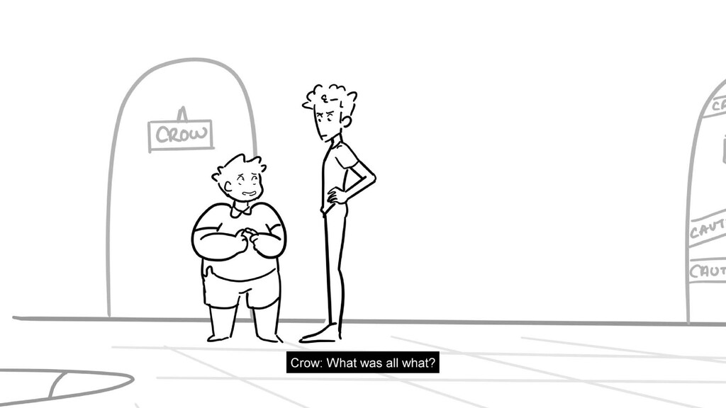Scene 21 Panel 5 Dialog Jay: Step into my offic...
