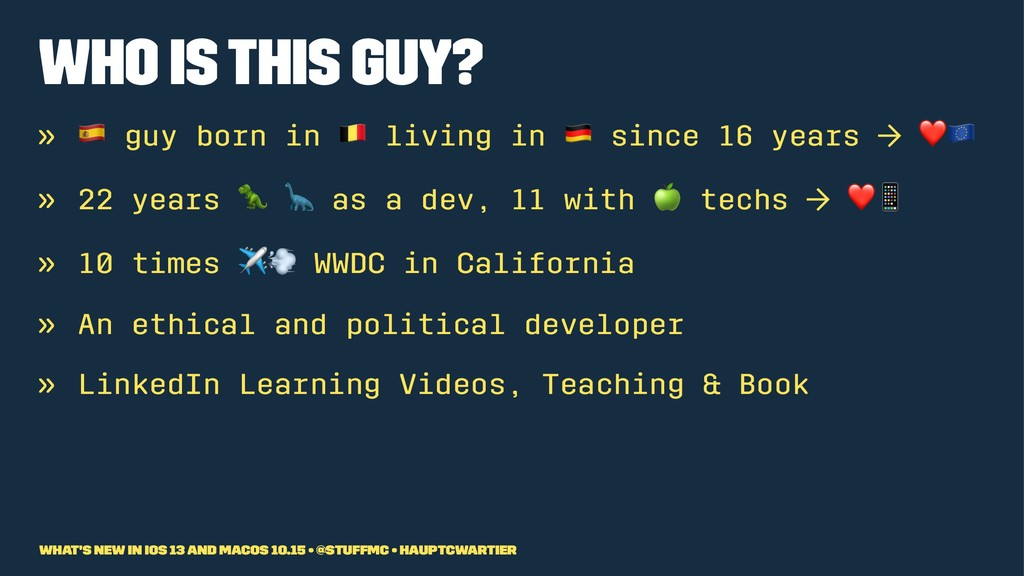 """Who is this guy? » ! guy born in """" living in si..."""