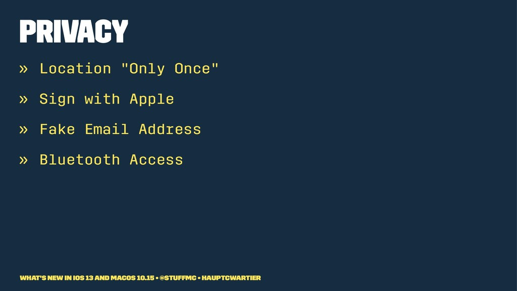 """Privacy » Location """"Only Once"""" » Sign with Appl..."""