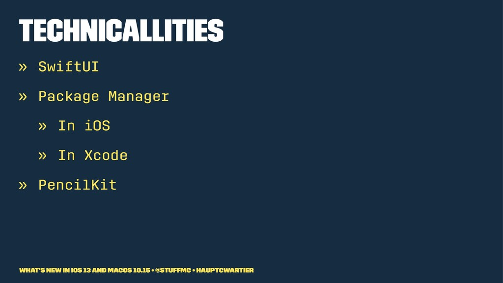 Technicallities » SwiftUI » Package Manager » I...