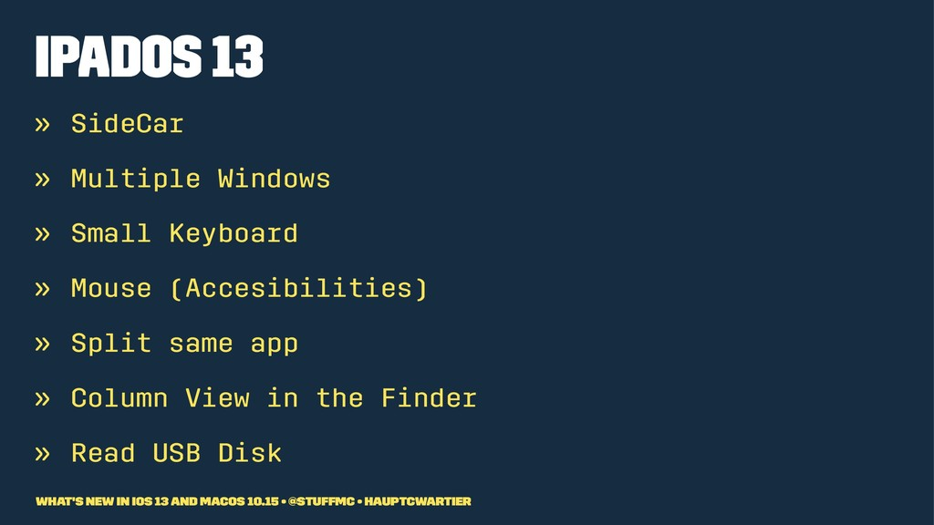 iPadOS 13 » SideCar » Multiple Windows » Small ...