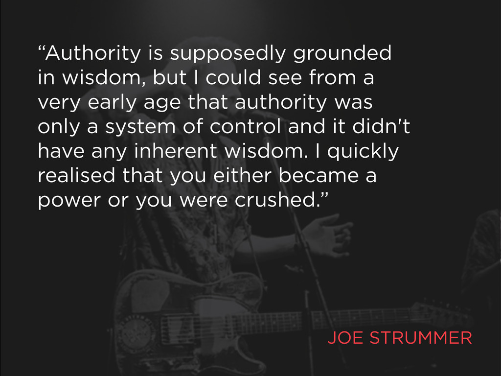 """Authority is supposedly grounded in wisdom, bu..."