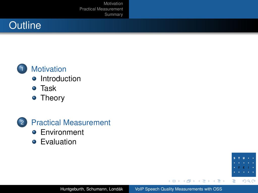 Motivation Practical Measurement Summary Outlin...