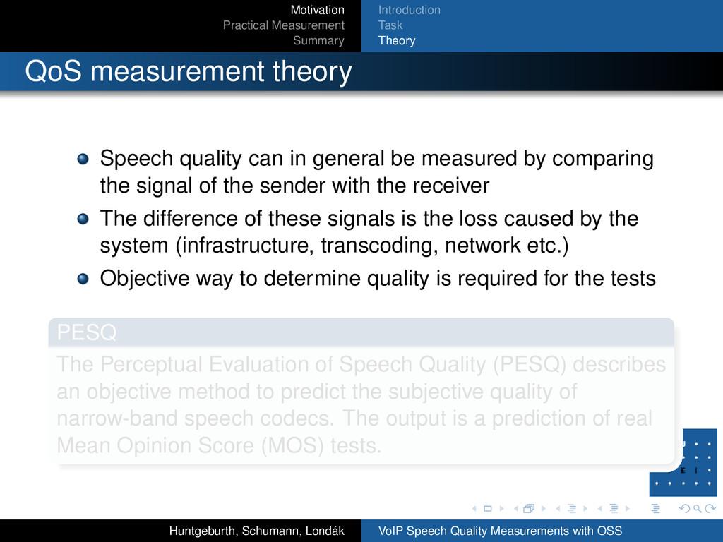Motivation Practical Measurement Summary Introd...