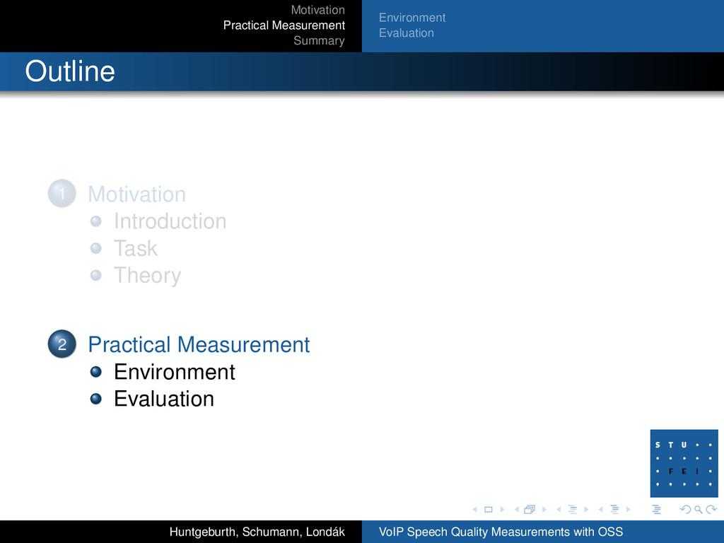 Motivation Practical Measurement Summary Enviro...