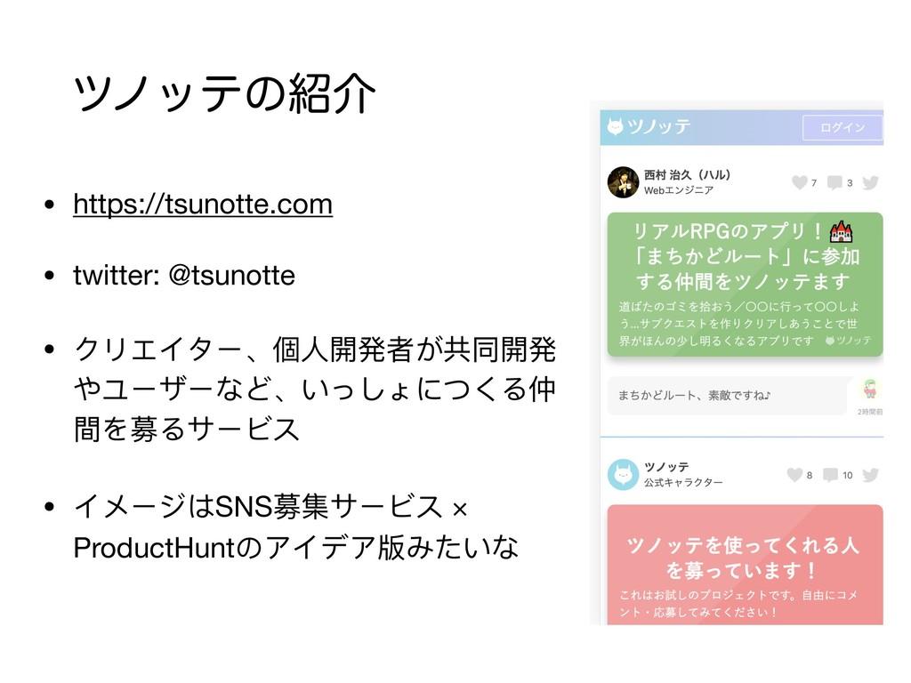πϊοςͷհ • https://tsunotte.com  • twitter: @tsu...