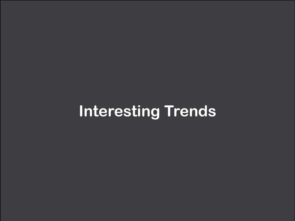 Interesting Trends