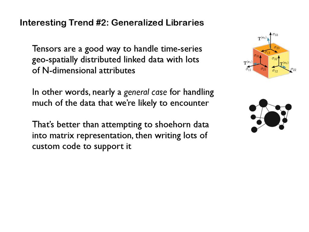 Interesting Trend #2: Generalized Libraries Ten...