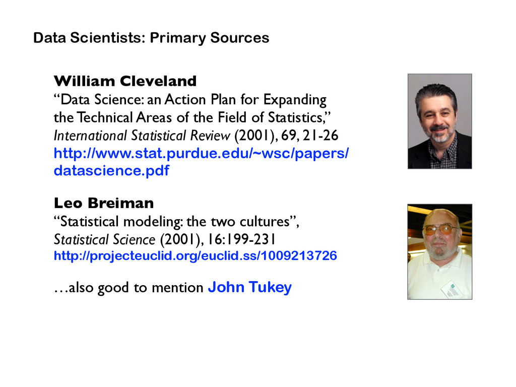 """William Cleveland  """"Data Science: an Action Pl..."""