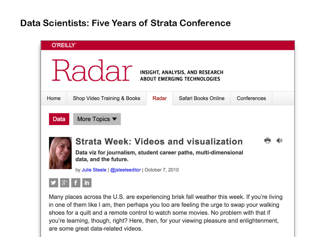 Data Scientists: Five Years of Strata Conference