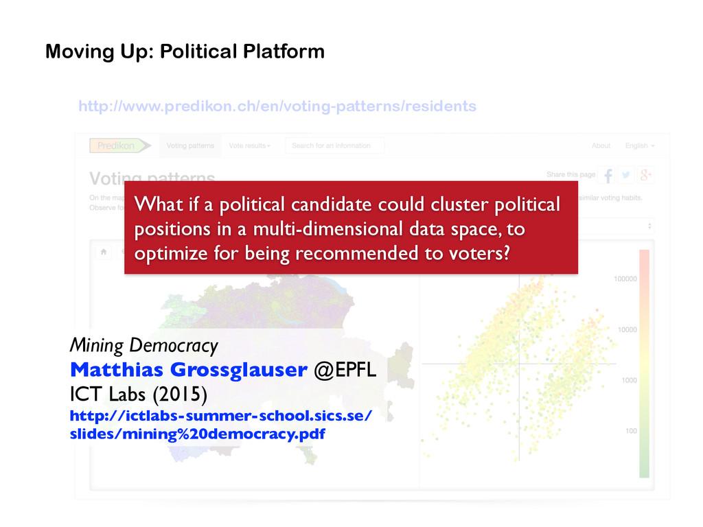 Moving Up: Political Platform Mining Democracy...