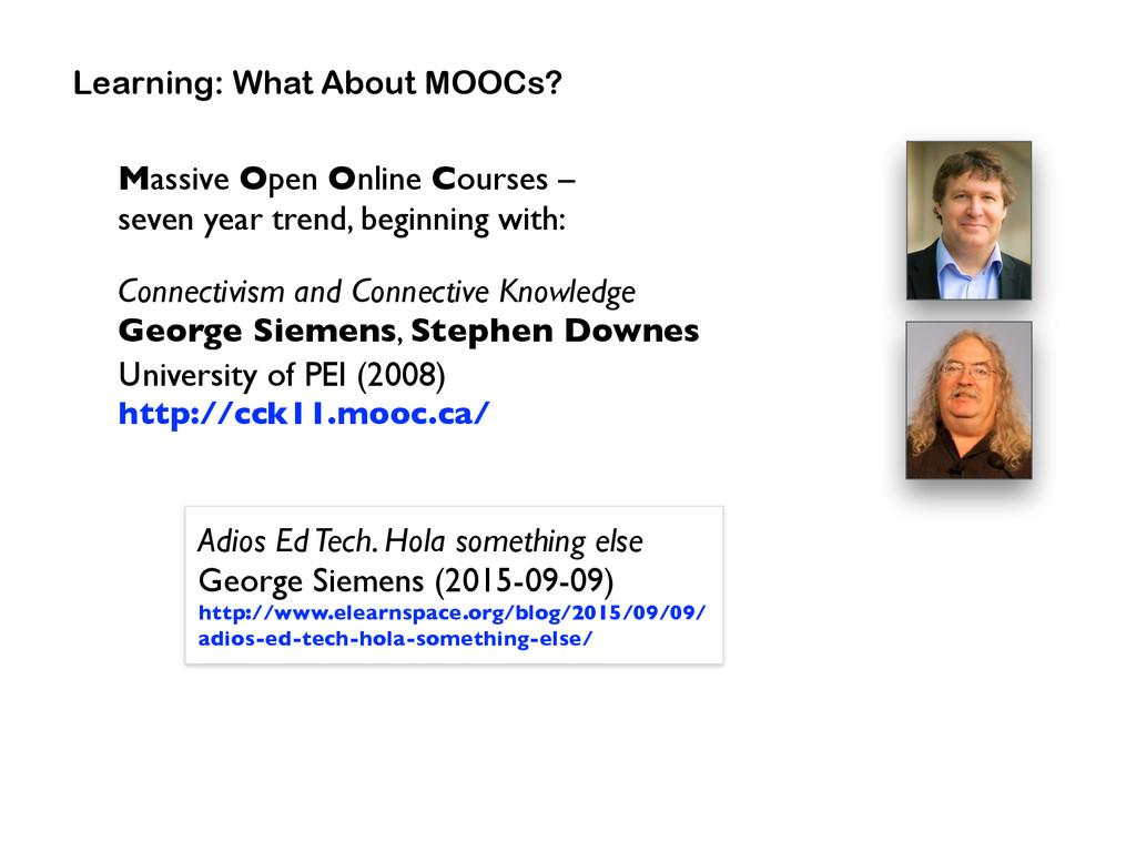Massive Open Online Courses –  seven year tren...