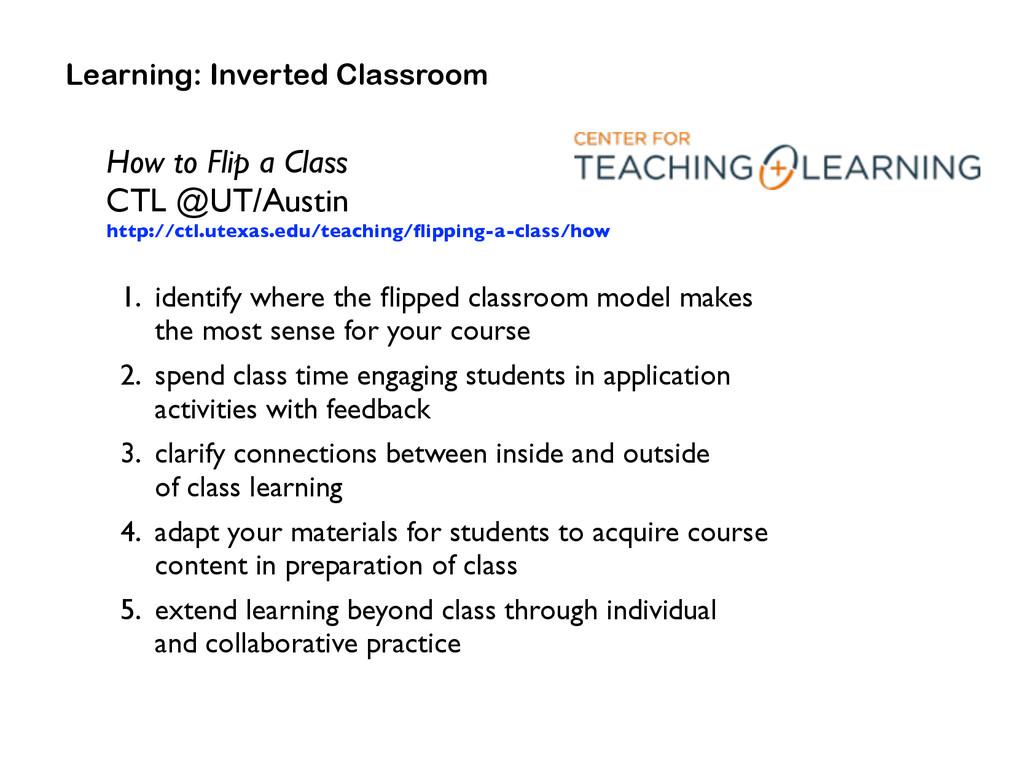 How to Flip a Class  CTL @UT/Austin http://ct...