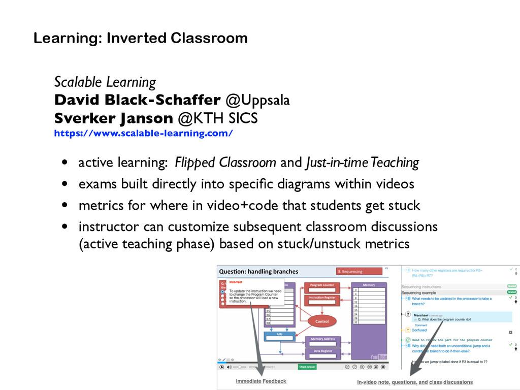 Scalable Learning David Black-Schaffer @Uppsal...