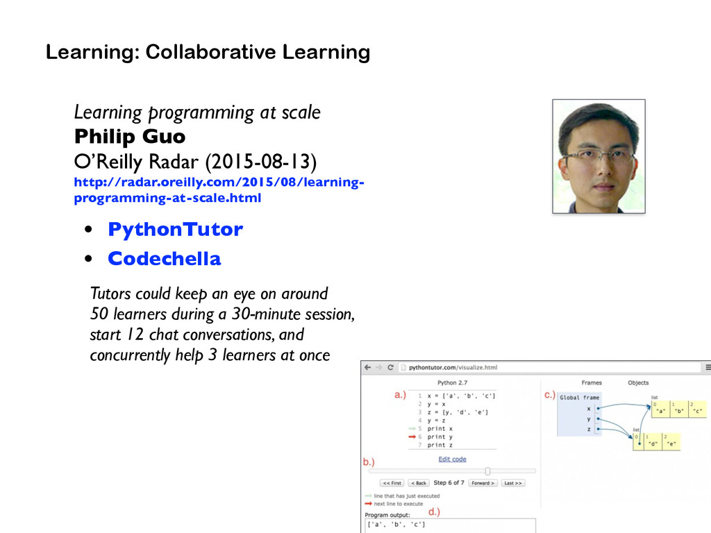 Learning programming at scale Philip Guo  O'Re...