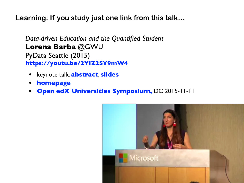 Data-driven Education and the Quantified Student...