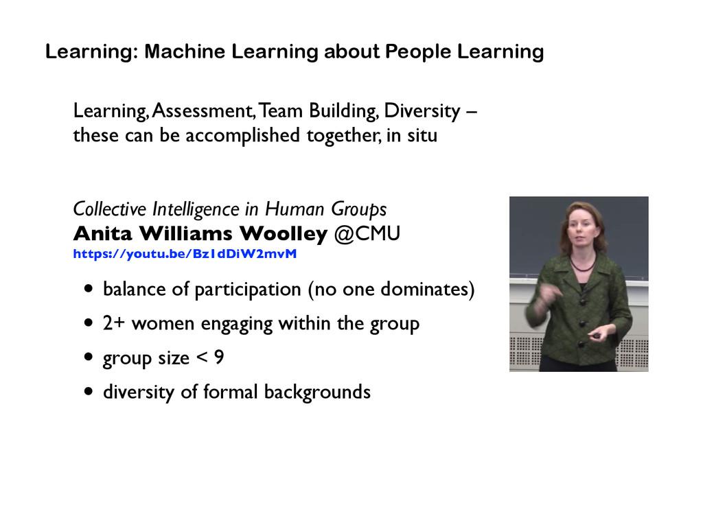 Learning, Assessment, Team Building, Diversity ...