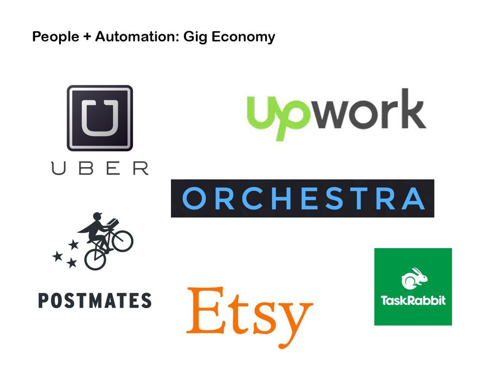 People + Automation: Gig Economy