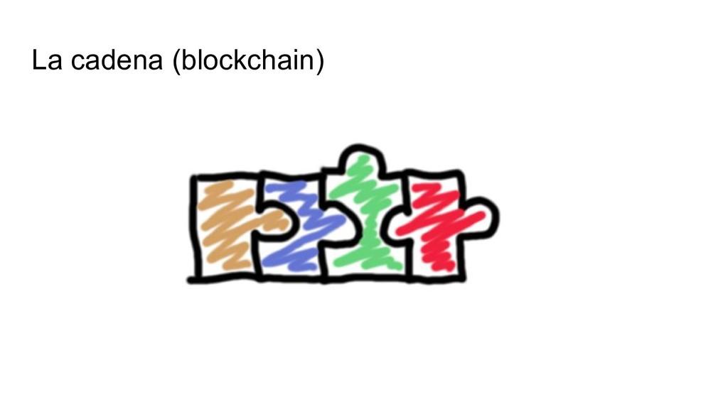 La cadena (blockchain)